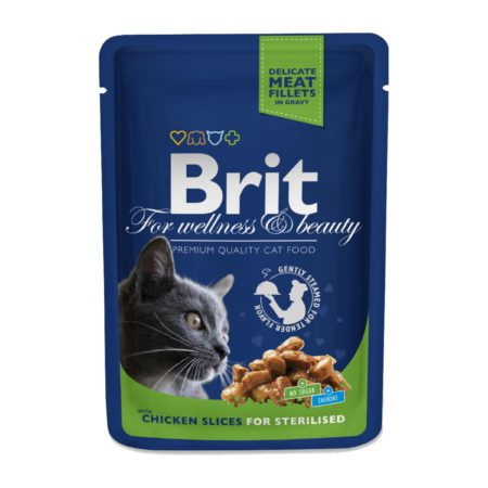 Brit Premium Pouches Cat Chicken For Sterilised 100 Gr